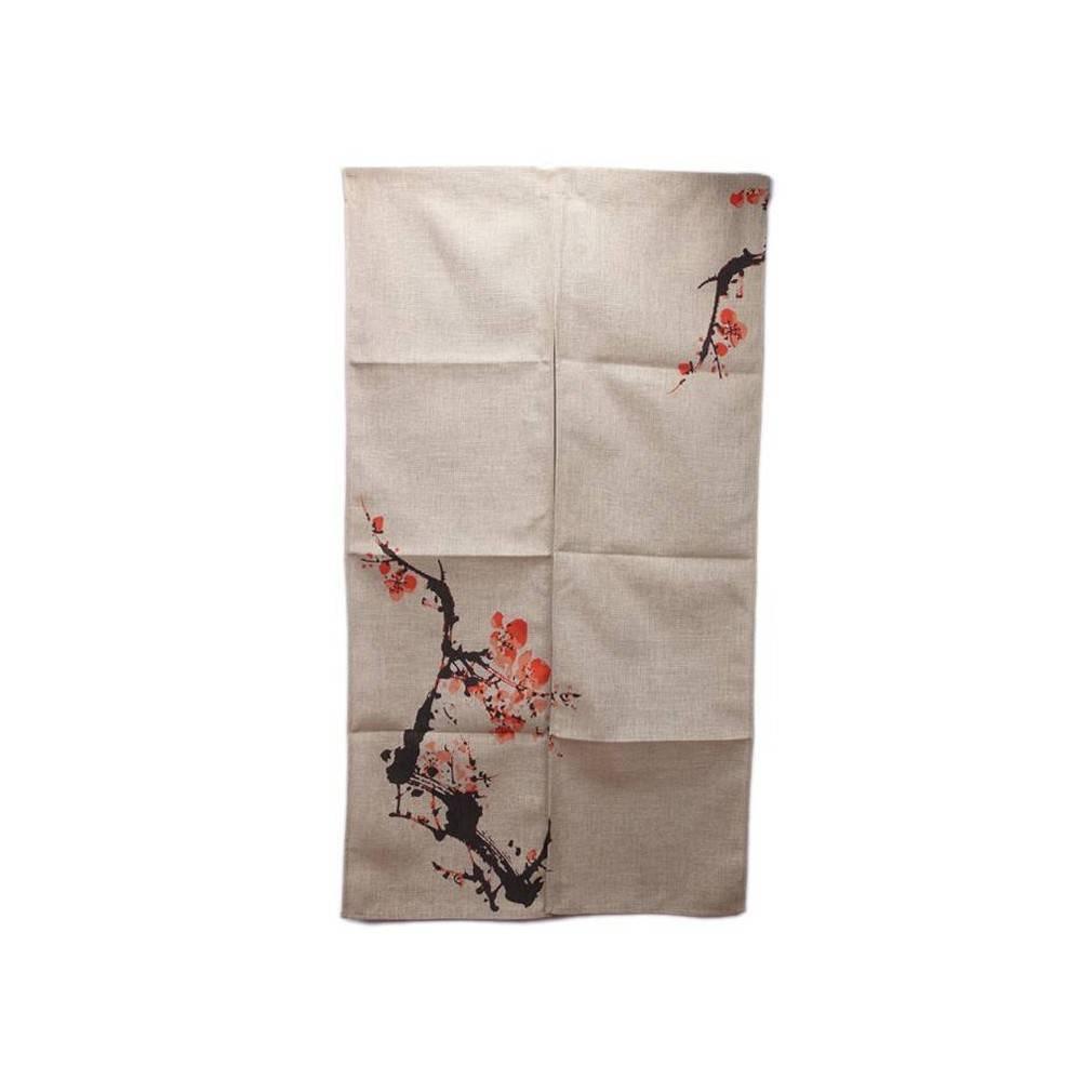 rideau japonais le noren est pratique et d coratif son motif de cerisiers en fleurs est tr s. Black Bedroom Furniture Sets. Home Design Ideas