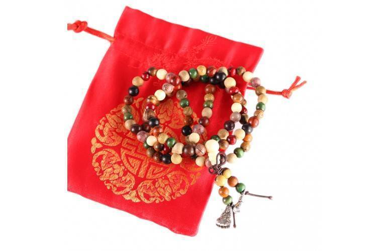 BRACELET-COLLIER MALA MULTICOLORE