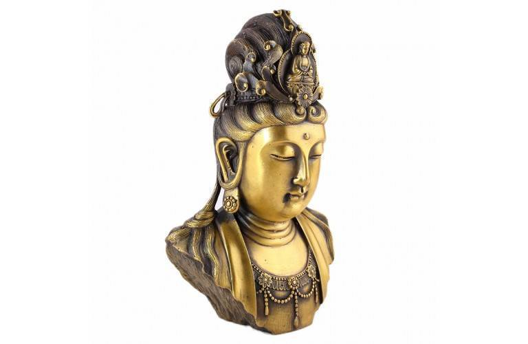 BUSTE BOUDDHA GUANYIN TRADITIONNEL