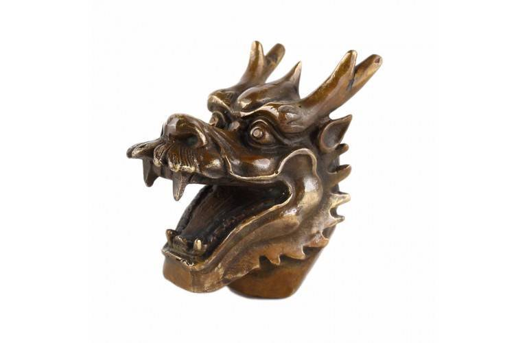 TETE de DRAGON CHINOIS ANTIQUE