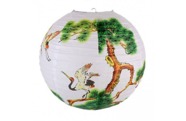 GRAND LAMPION BOULE ASIATIQUE
