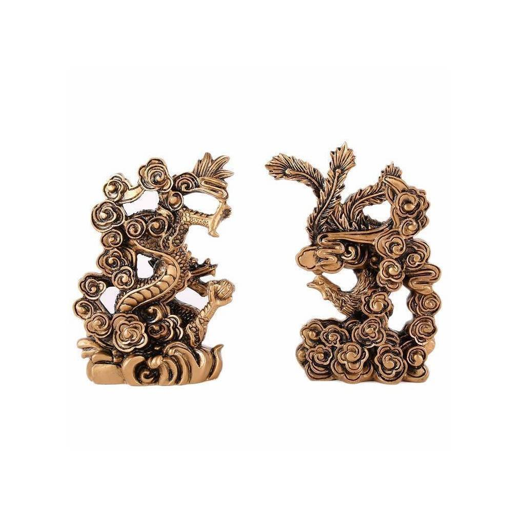 Créatures mythiques Feng Shui, couple dragon-phénix Feng Shui