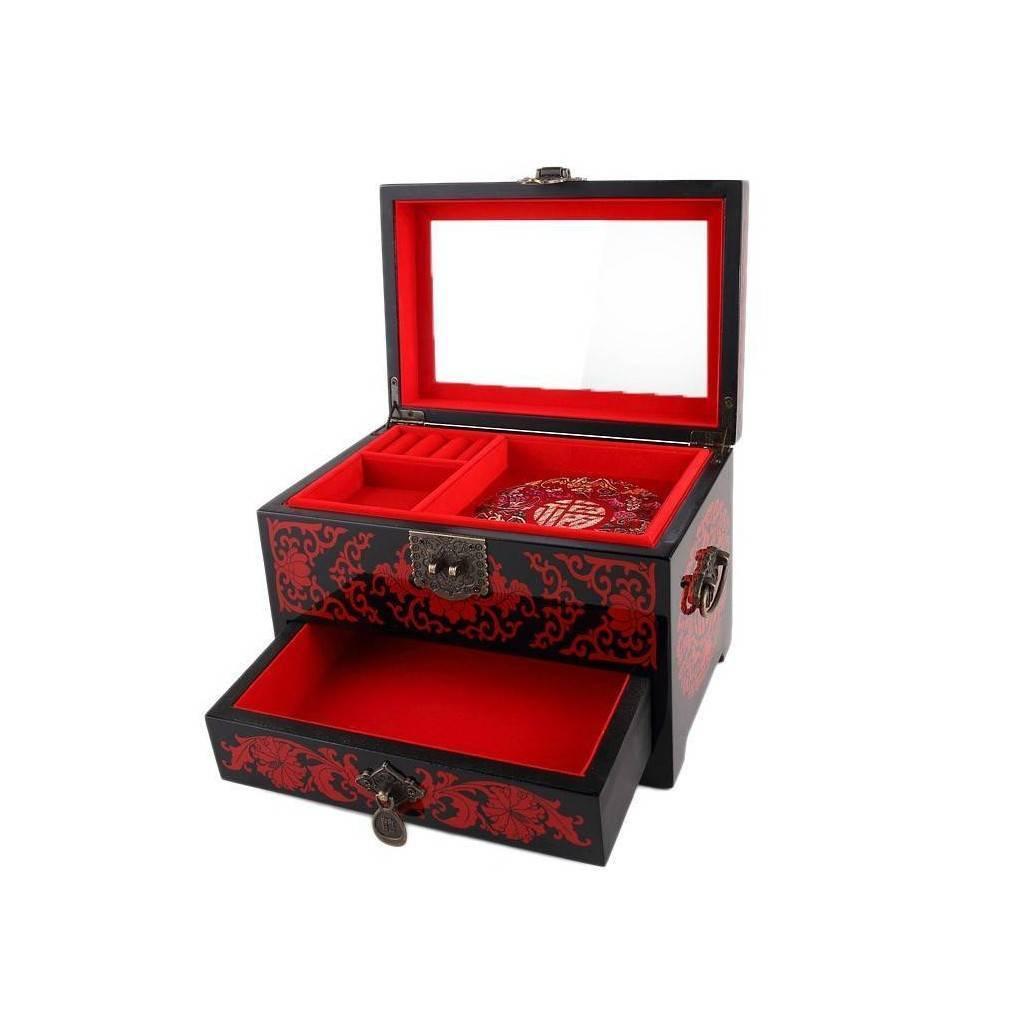 magnifique boite bijoux en bois laqu comportant un. Black Bedroom Furniture Sets. Home Design Ideas