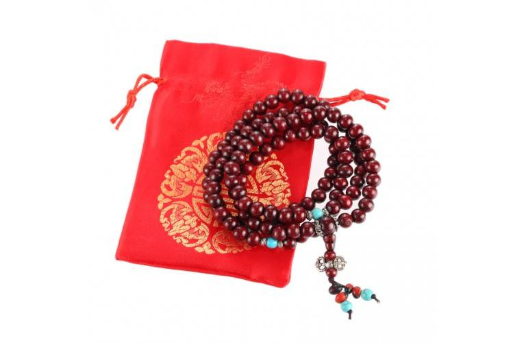 BRACELET-COLLIER MALA BOUDDHISTE TRADITIONNEL