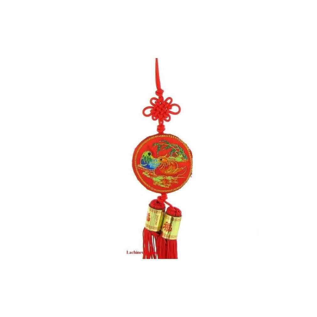 pendentif de canard mandarin feng shui symbole d 39 amour. Black Bedroom Furniture Sets. Home Design Ideas