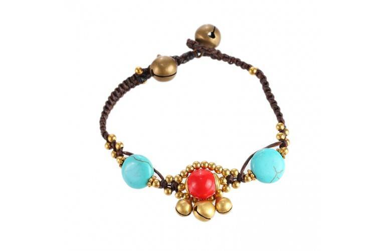 BRACELET TIBETAIN - RED and BLUE