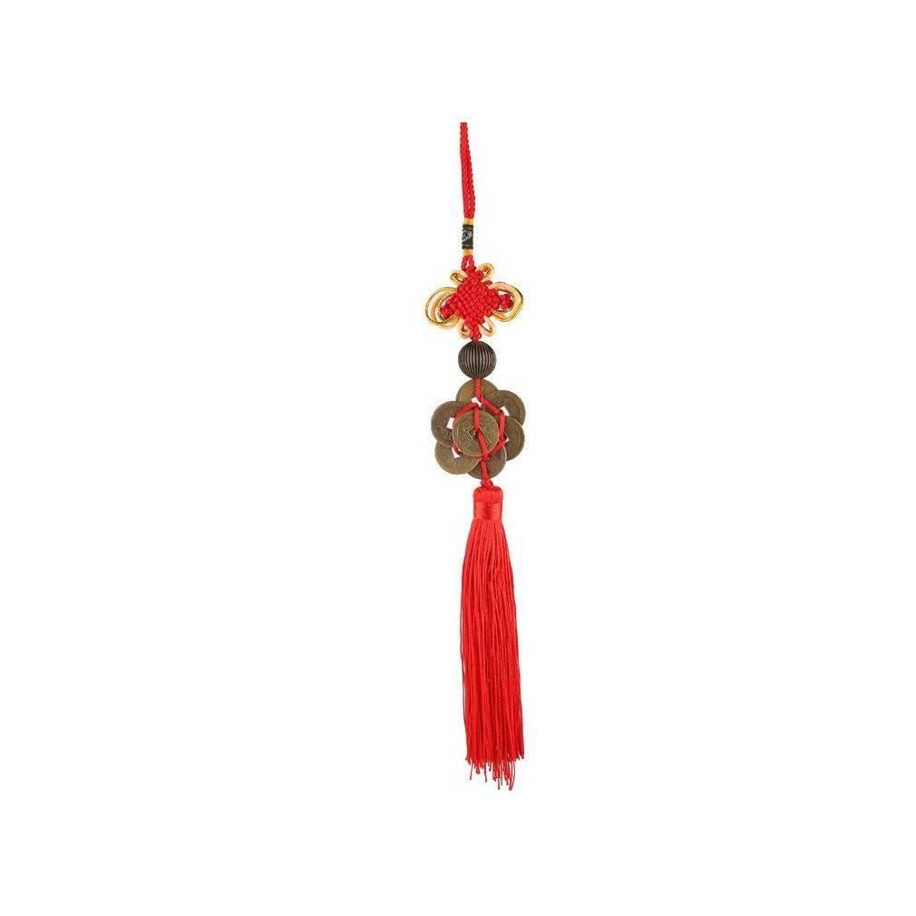 Cordon Fait De 8 Pieces Chinoises Symbole De Fortune Et De Richesse