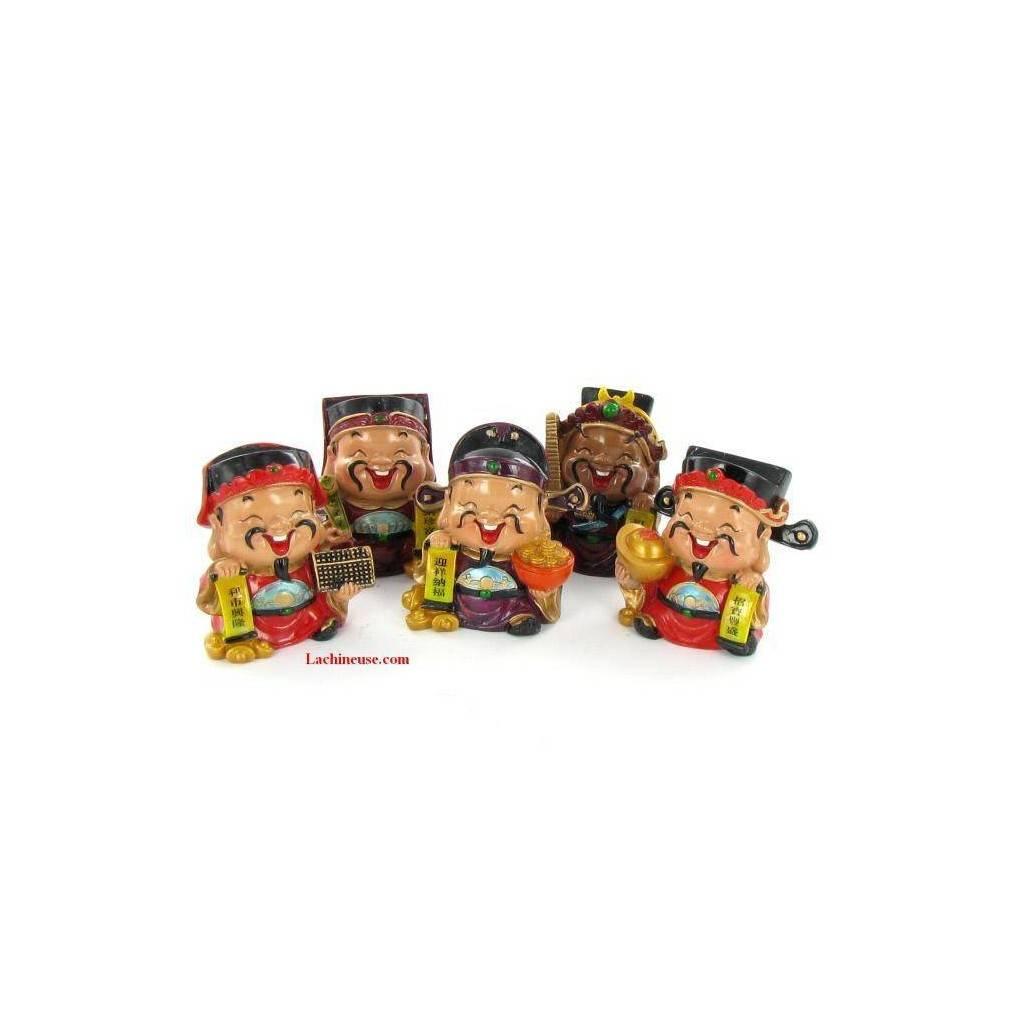 figurines dieux chinois de la fortune caishen
