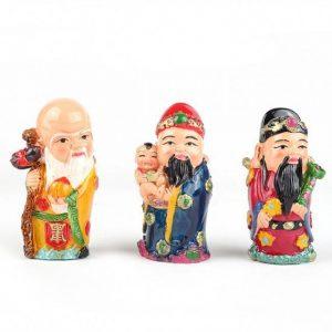 Statuettes de dieux chinois du bonheur Fuk Luk Sau