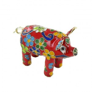 ANIMAL EMAIL CLOISONNE COCHON