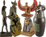 STATUETTES EGYPTIENNES ET CANOPES