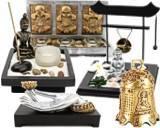 Jardin zen aux 3 bouddhas traditionnels et leur porte for Deco jardin zen bouddha